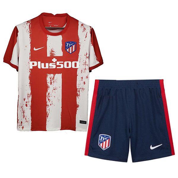 atletico de madrid completo home kids maglietta da calcio per bambini prime divise da calcio giovanile 2021-2022