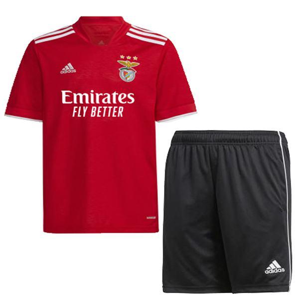 Benfica home kids kit soccer children prima maglia da calcio maillot match uniformi giovanili 2021-2022