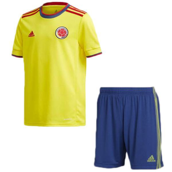 Colombia home kids kit soccer bambini prima maglia da calcio maillot match divise giovanili 2021