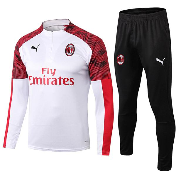 AC Milan Tracksuits Soccer Pants Suit Sports Set Necked Cleats Men's Clothes Football White Training Jersey 2019