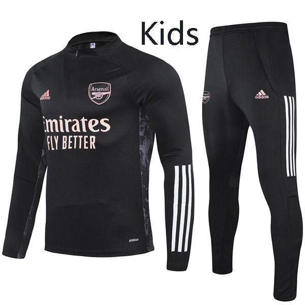 Arsenal Tracksuit Kids Kit Soccer Pants Suit Sports Set Hight Necked Cleats Youth Clothes Children Football Training Jersey Black 2020-2021