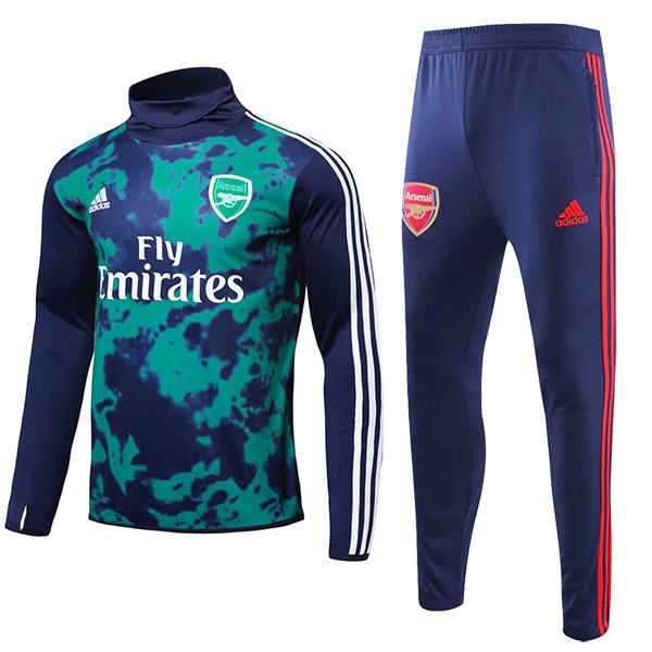 Arsenal tracksuit soccer pants suit sports set necked cleats men's clothes football training jersey green 2019-2020