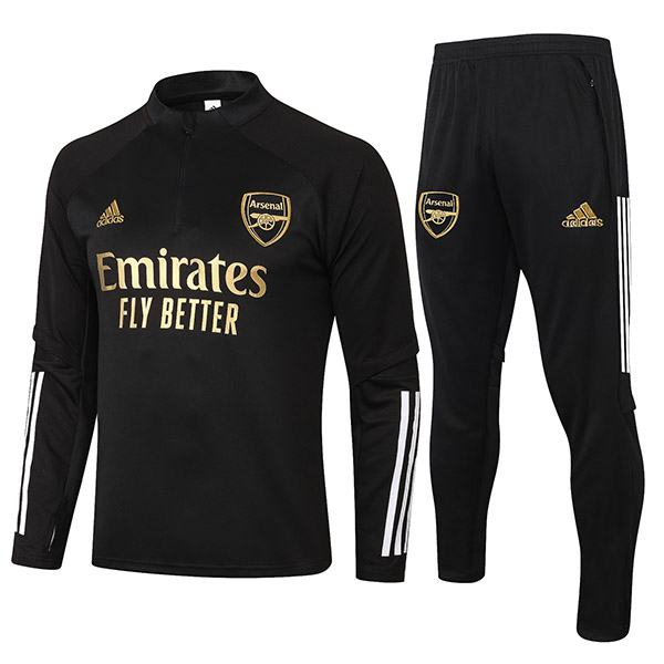Arsenal Tracksuits Soccer Pants Suit Sports Set Necked Cleats Men's Clothes Football Training Jersey Black Gold 2020-2021