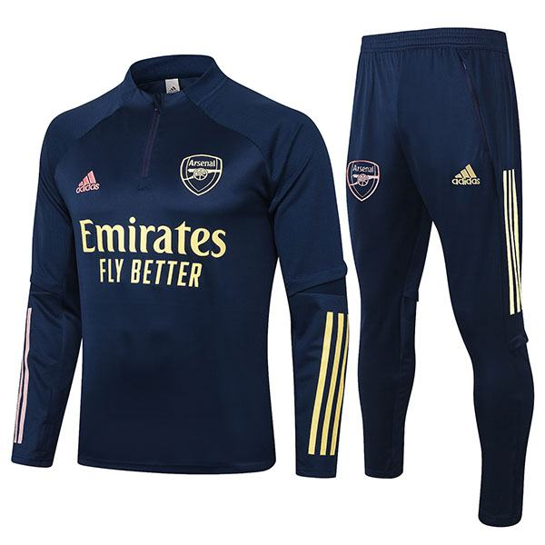 Arsenal Tracksuits Soccer Pants Suit Sports Set Necked Cleats Men's Clothes Football Training Jersey Navy 2020-2021