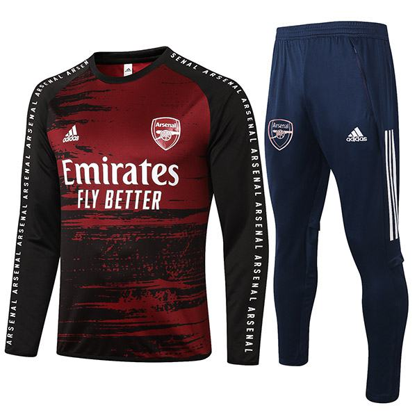 Arsenal Tracksuits Soccer Pants Suit Sports Set Necked Cleats Men's Clothes Football Training Jersey Red Black 2020-2021
