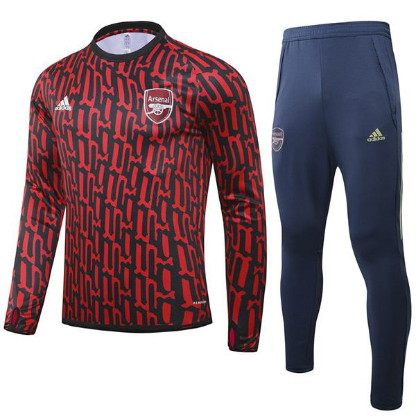 Arsenal Tracksuits Soccer Pants Suit Sports Set Necked Cleats Men's Clothes Football Training Jersey Red Blue 2020-2021