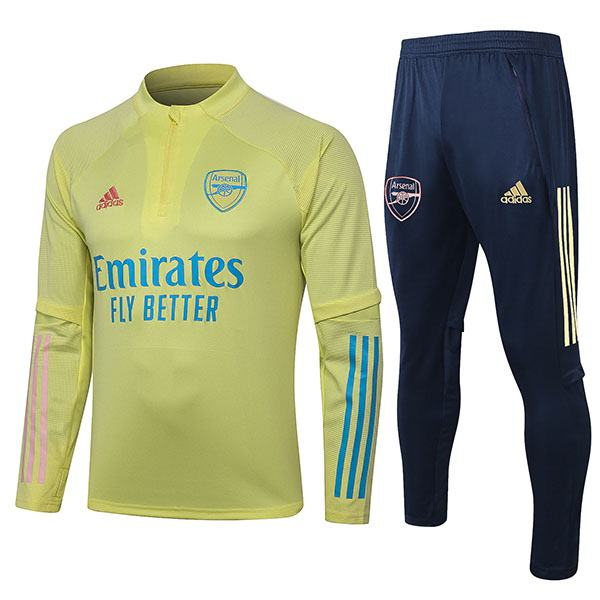 Arsenal Tracksuits Soccer Pants Suit Sports Set Necked Cleats Men's Clothes Football Training Jersey Yellow 2020-2021