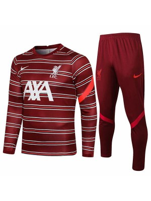 Liverpool tracksuit soccer pants suit sports set necked cleats men's clothes football training jersey red white 2021-2022